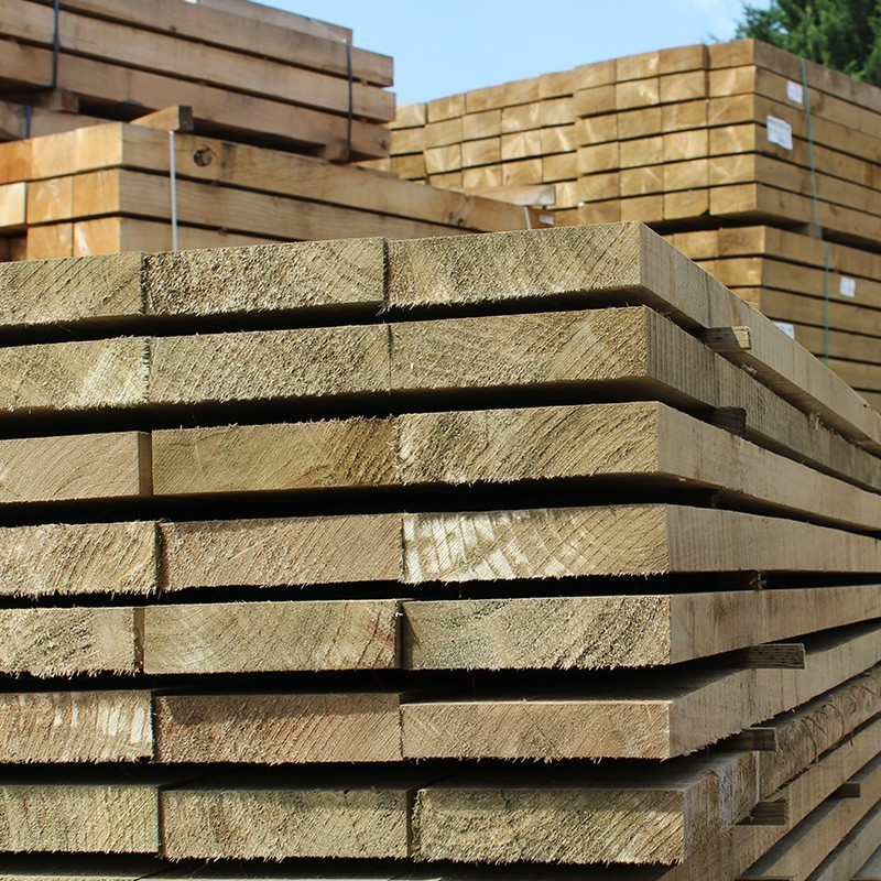 New Green Eco Treated Softwood Sleepers - Pallet of 50 (1200 x