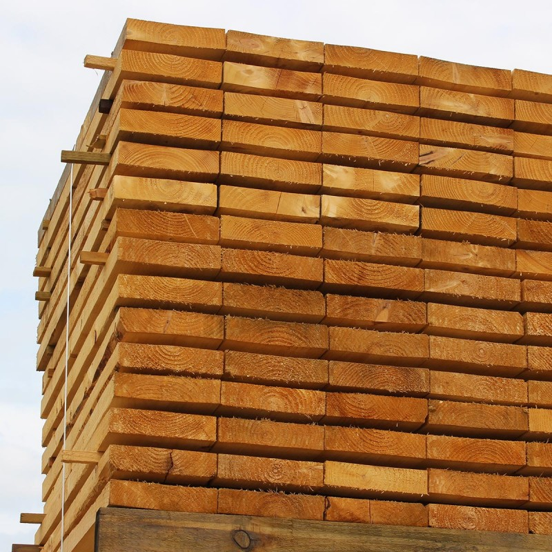 New Untreated Larch/ Douglas Fir Sleepers - Pallet of 50 (1200