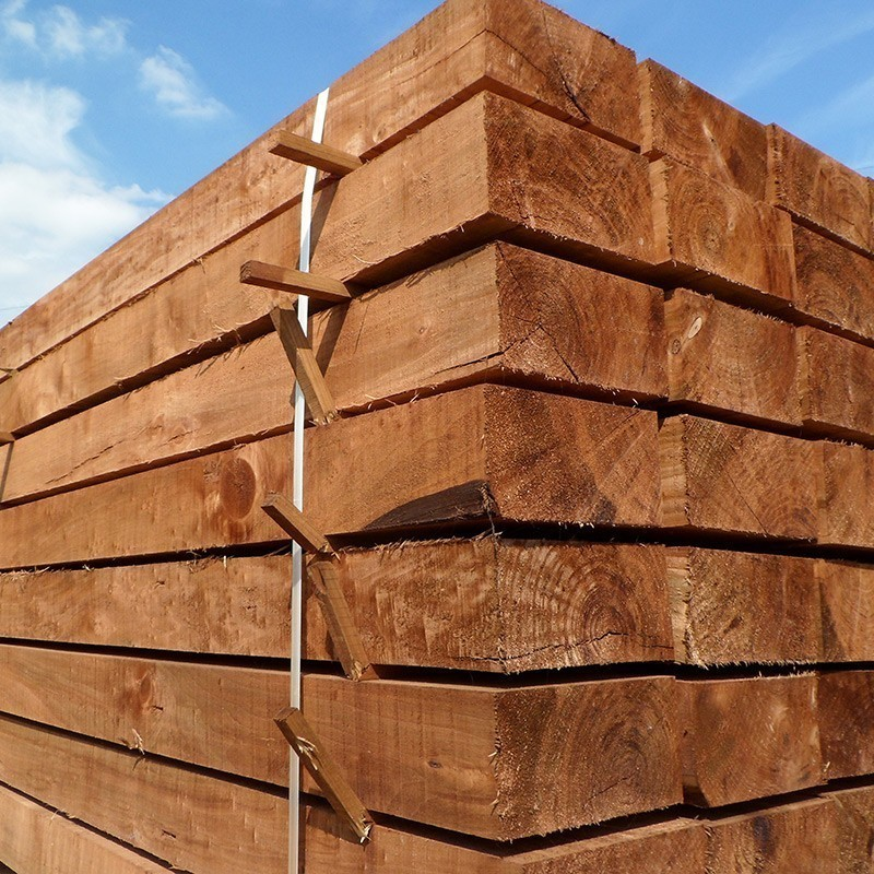 New Brown Eco Treated Softwood Sleepers (200 x 100 mm)