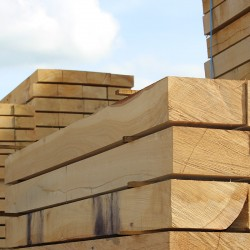New Untreated Oak Sleepers - Pallet of 20 (1200 x 200 x 100 mm)