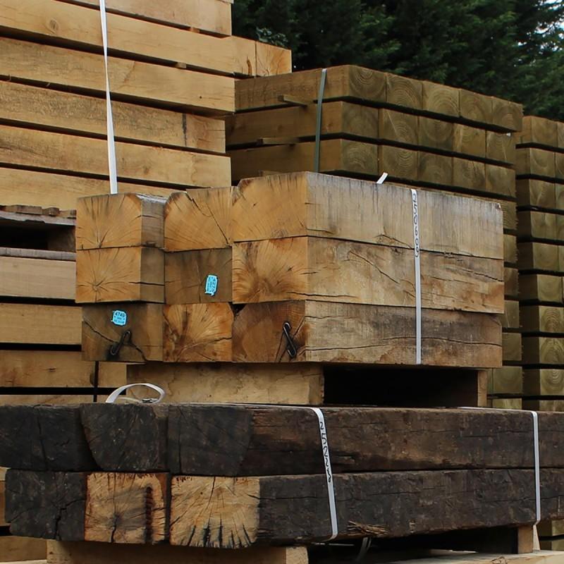 New Untreated Oak Sleepers (225 x 125 mm)