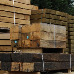 New Untreated Oak Sleepers (250 x 125 mm)