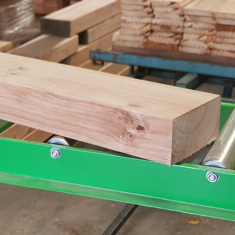 Planed and Bevelled Untreated Oak Sleepers (190 x 90 mm)