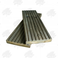 Green Treated Nordic Redwood Decking 145mm
