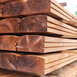 Brown Treated Log Lap Sleepers - Pallet of 40 (1200 x 194 x 94