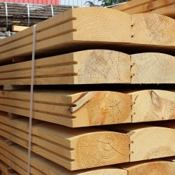 Larch/ Douglas Fir Log Lap Sleepers - Pallet of 50 (1200 x 194