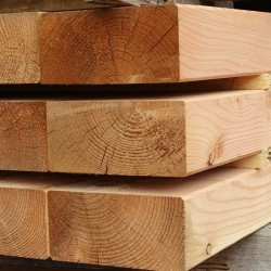 Planed and Bevelled Larch/ Douglas Fir Garden Sleepers - Pallet